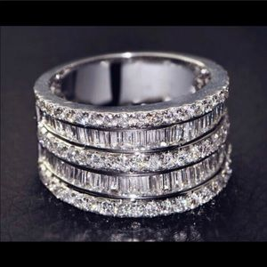 Sterling Silver Wedding Band New Engagement Ring